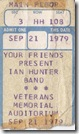 Ian Hunter ticket